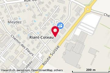 Carte: Gland, Rue de Riant-Coteau 11