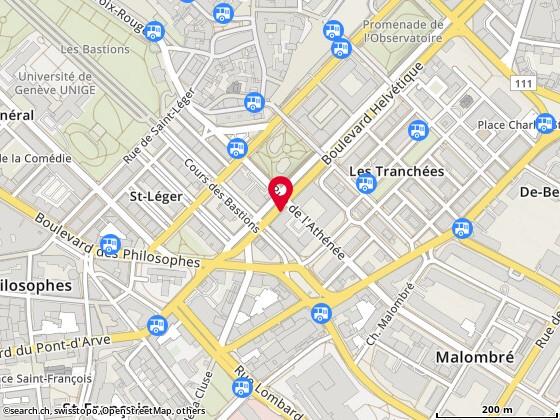 Carte: Genève, Bd. Helvétique 6