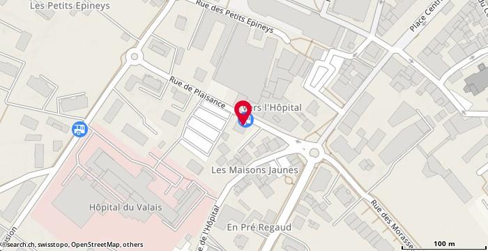 Carte: Martigny, Rue de Plaisance 1