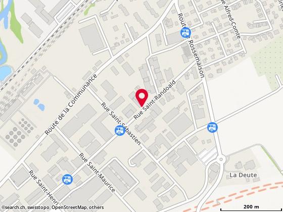 Carte: Delémont, Rue St-Randoald 12