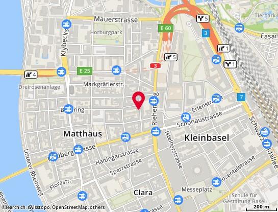 Karte: Basel, Efringerstr. 25