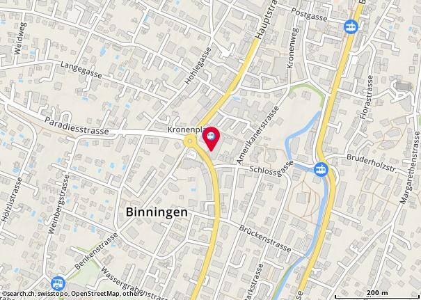 Karte: Binningen, Hauptstr. 129