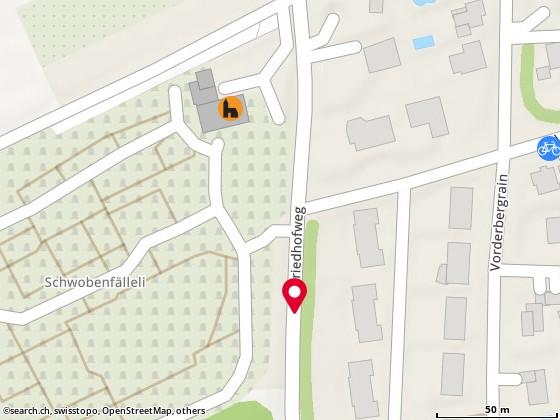 Karte: Oberwil, Friedhof rüti