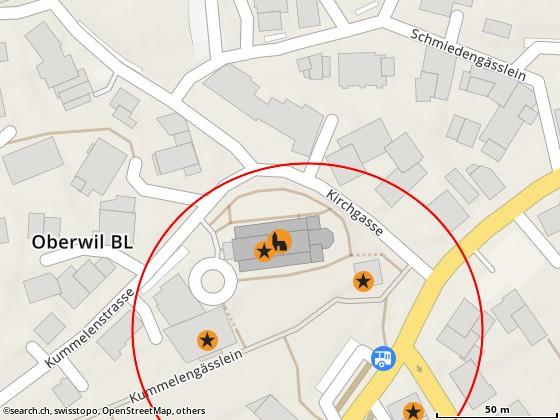 Karte: Oberwil, Kirchgasse 5
