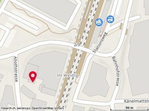 Karte: Münchenstein, Aliothstr. 1