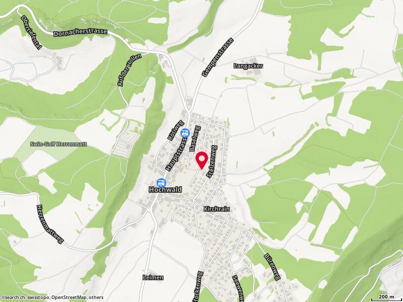 Cartina: Hochwald, Baselweg 24