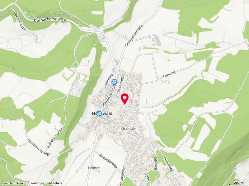 Map: Hochwald, Baselweg 24