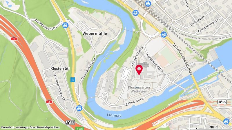 Karte: Wettingen, Klosterstr. 11