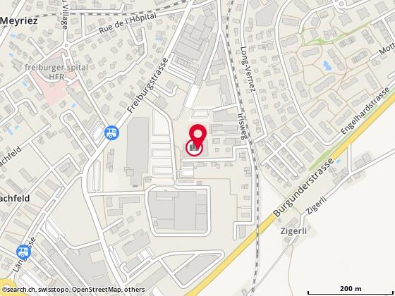 Karte: Tennis- und Squashcenter Murten, Murten, Freiburgstr. 45