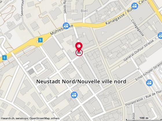 Carte: Delirium Ludens GmbH, Biel/Bienne, rue de l'Union 15