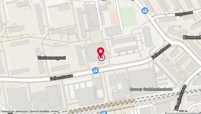 Karte: Tscharnergut-Apotheke, Bern, Fellerstr. 28