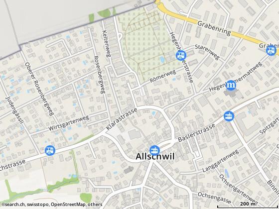 Cartina: Sticca, Felice, Allschwil, Spitzgartenweg 45