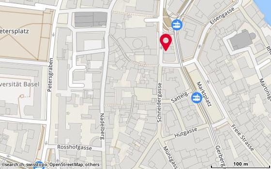 Karte: Comm.pact AG, Basel, Stadthausgasse 18