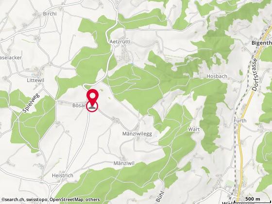 Karte: Wittwer, Fritz, Utzigen, Bösarni 280