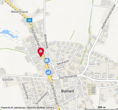 Karte: Ballwil, Hochdorfstr. 5