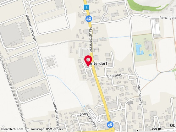 Karte: Trevision Treuhand und Revision AG, Reiden, Hauptstr. 77
