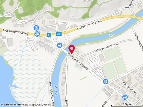 Karte: Brunnen, alte Kantonsstrasse 19a