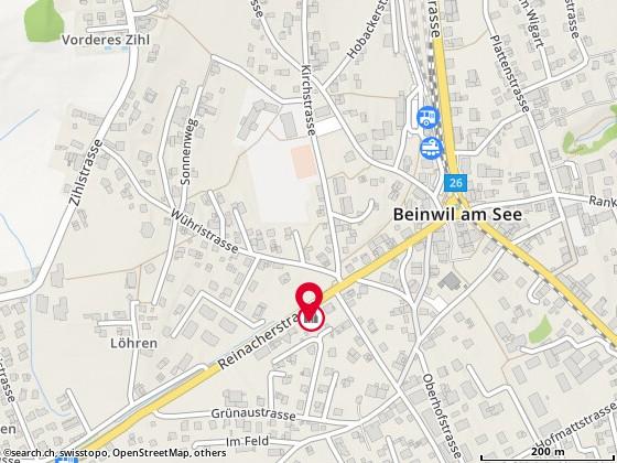 Karte: Kita Paradiesli, Beinwil am See, Reinacherstr. 15