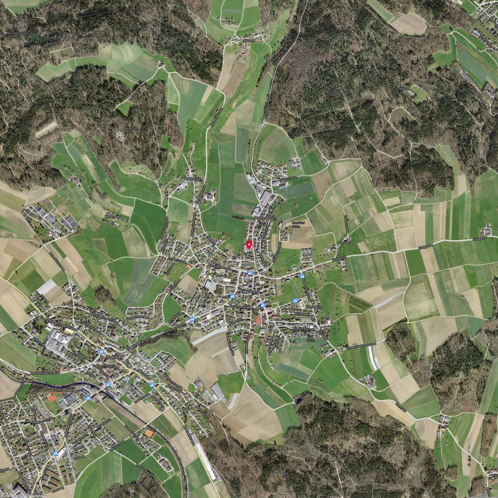 Karte: Geissmann Bus AG, Hägglingen, Mellingerstr. 9