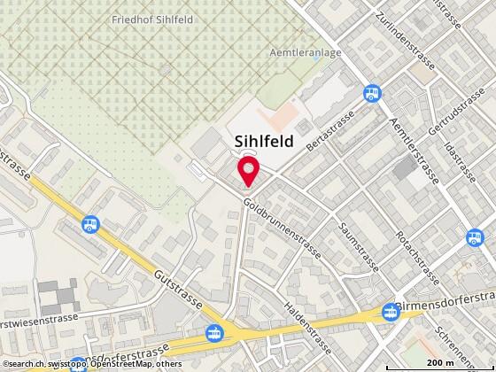Karte: Palme de Beirut, Zürich, Bertastr. 76