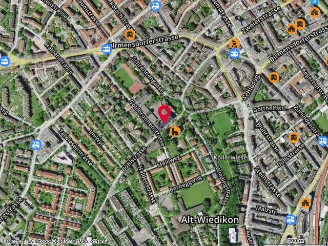 Karte: Bühl, Zürich, Bühlstr. 6