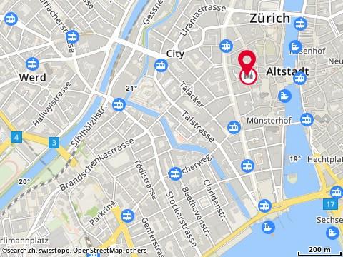 Karte: Christkatholische Kirchgemeinde Zürich, Zürich, Augustinerhof 8