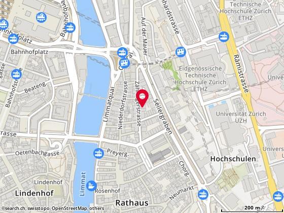 Karte: Seismo Verlag, Zürich, Zähringerstr. 26