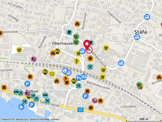 Karte: Restaurant Alte Krone St�fa, St�fa, Goethestr. 12