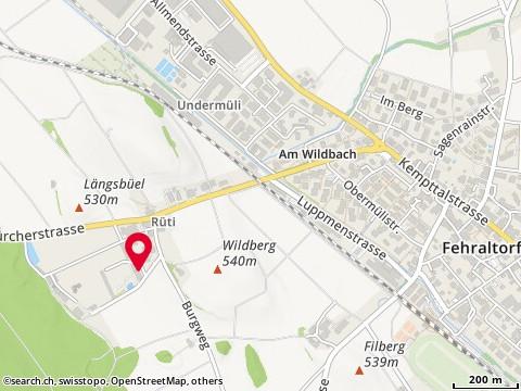 Karte: Portulac Biogärtnerei, Fehraltorf, Eggwisenstr. 1