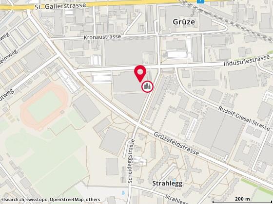 Karte: Theater Kanton Zürich (TZ), Winterthur, Scheideggstr. 37