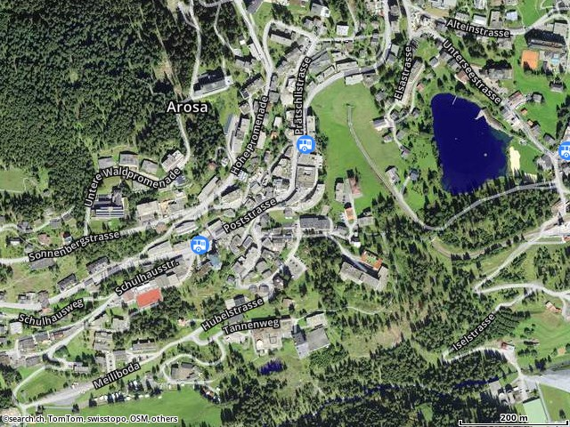 Karte: 7050 Arosa