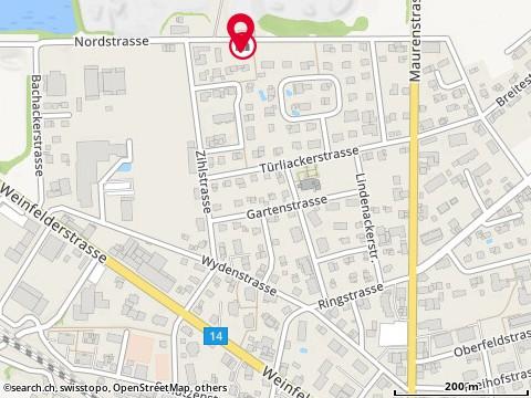 Karte: Haus des Lichts, Bürglen, Nordstr. 21