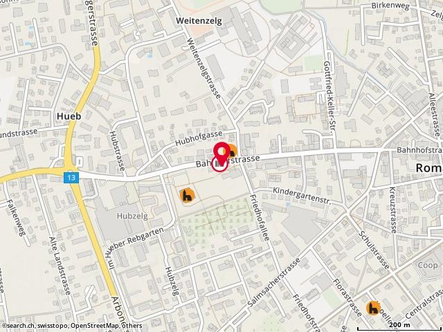 Karte: Verwaltung / Kirchenpflege, Romanshorn, Bahnhofstr. 48