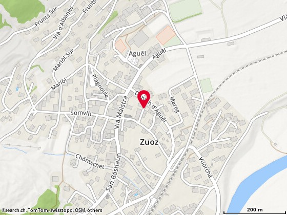 Karte: Zuoz, Giassa Travers
