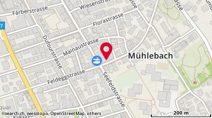 Karte: Zürich, Feldeggstrasse 49