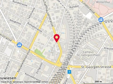 Karte: Winterthur, Schaffhauserstr. 15