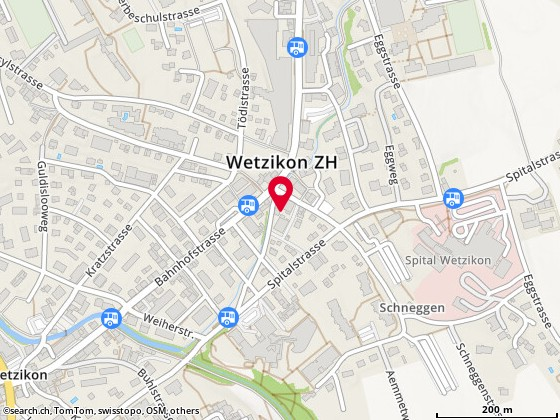Karte: Wetzikon,  Schlossbachstr. 14