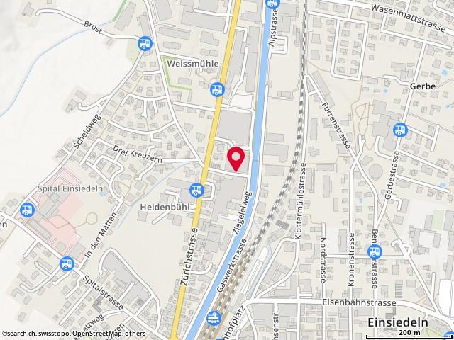Karte: Einsiedeln, Zürichstr. 38a