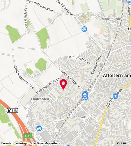 Karte: Affoltern am Albis, Schwandenrain 8b
