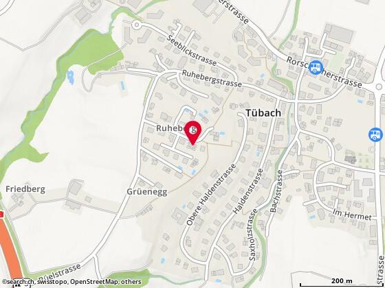 Karte: Tübach, Ruheberg 12