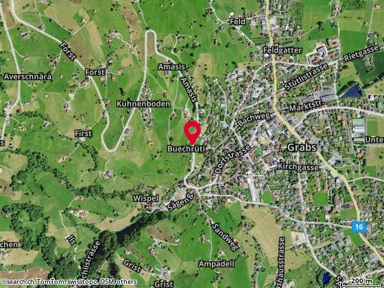 Karte: Grabs, Buechrüti