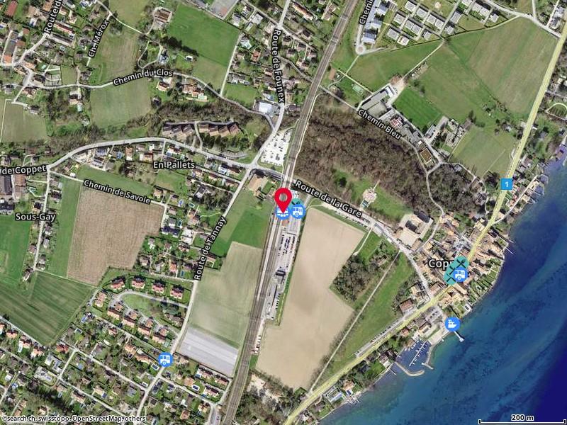 Map: Coppet, Gare