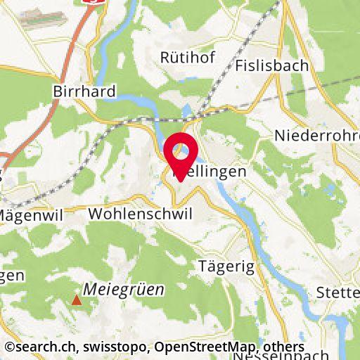 Map: Sportweg 23, Mellingen/AG - overview