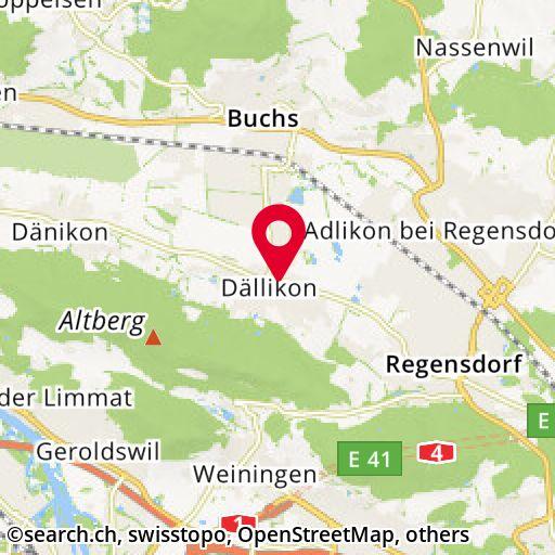 Karte: regensdorferstr. 3, dällikon/zh - übersicht