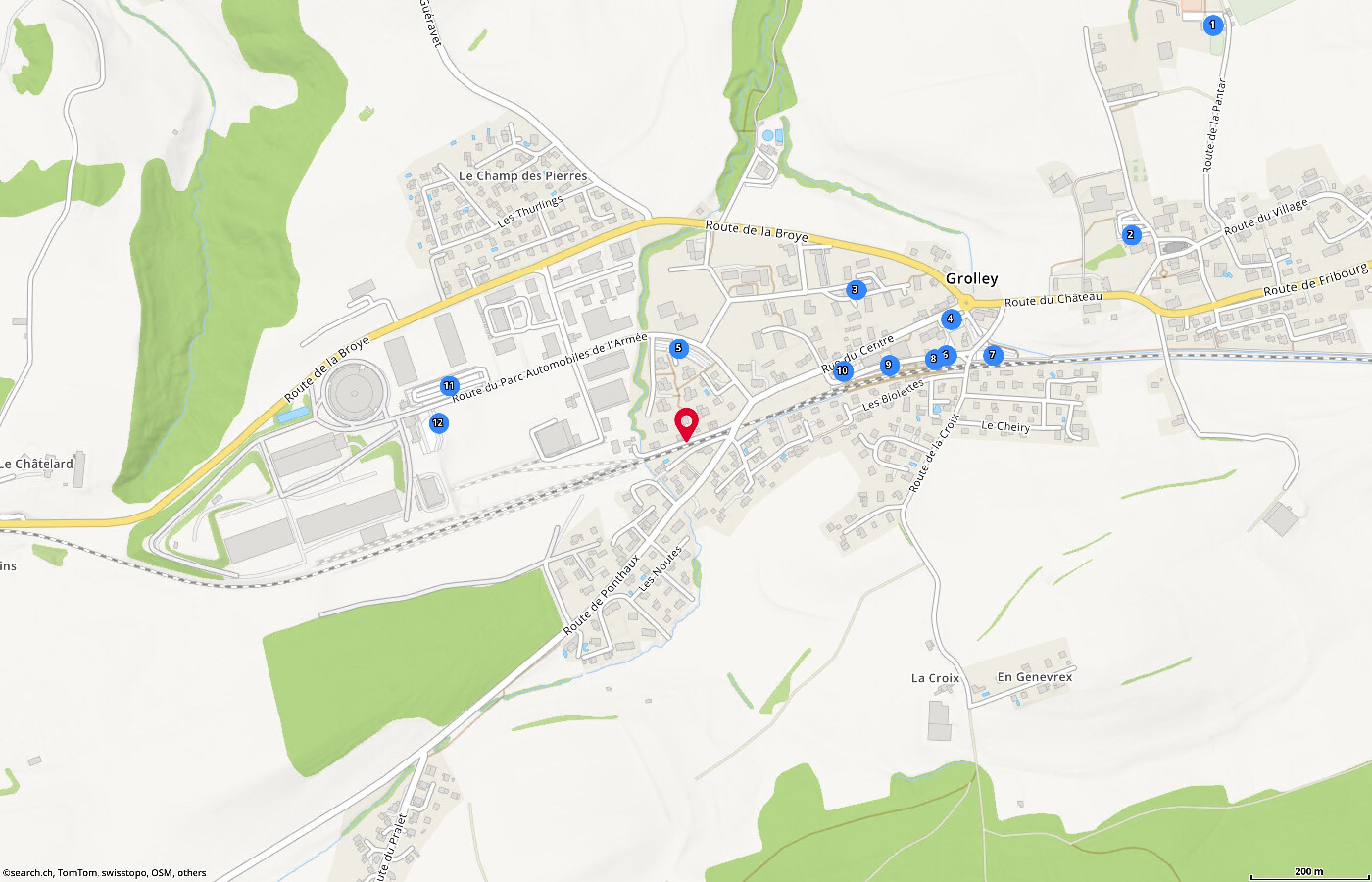 Map: Grolley, Impasse du Ruisseau