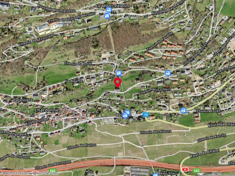 Carte: Chardonne, Ch. des Roches 1