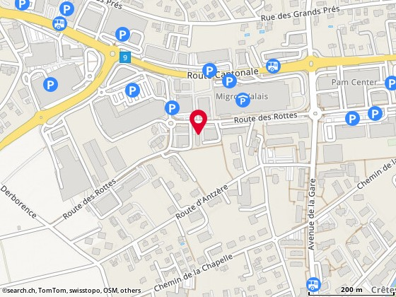 Map: Conthey, Rte des Rottes 26