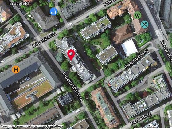 Map: Lausanne, Av. de l'Avant-Poste 4