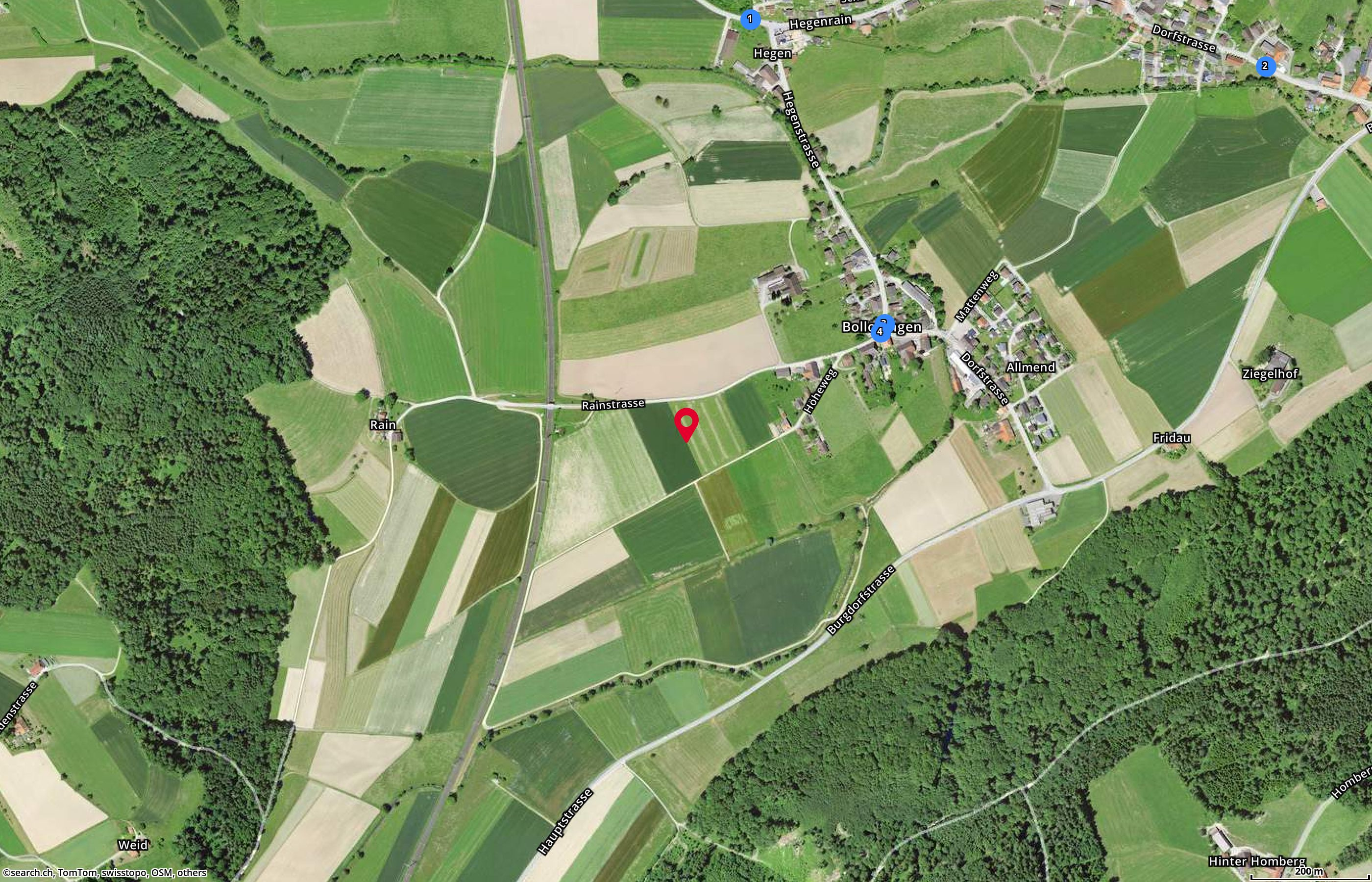 Map: 3366 Bollodingen