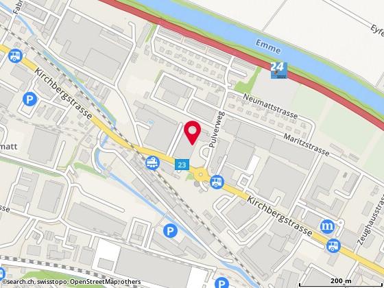 Map: Burgdorf, Pulverweg 7